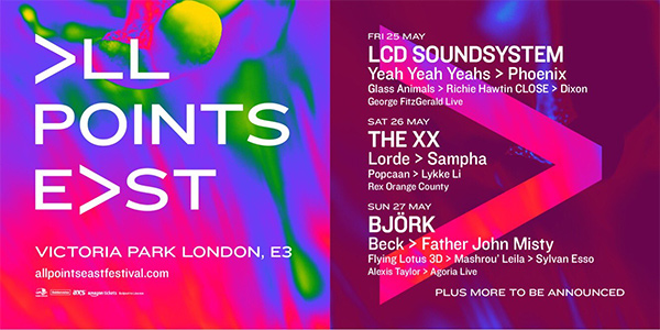 Björk en concert à Londres au festival All Points East en mai 2018
