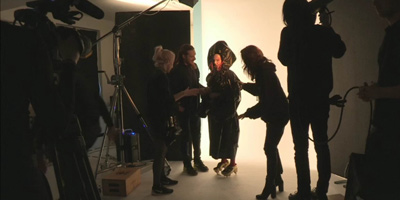 Photoshoot en live chez ShowStudio